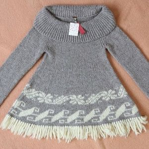 Free People Cowl Neck Pullover Sweater (NWT)